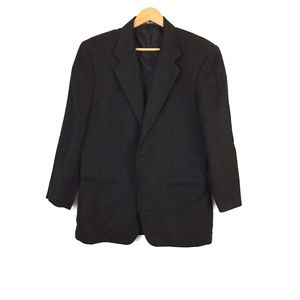 Byblos Men's black blazer natural fiber jacket 50